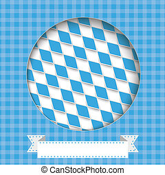 Bavarian Colors Hole Cover Ribbon - Oktoberfest design on...