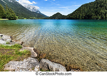 Clear water in a alpine lake