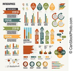 Infographics Elements - Illustration of infographics design...
