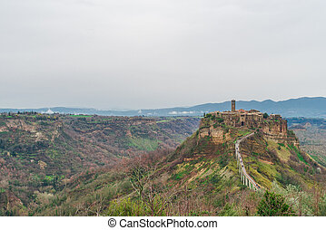Civita di Bagnoreggio - Panoramic view of Civita di...