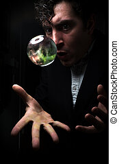 Crystal Ball Galaxy - Holding the universe in fortune teller...