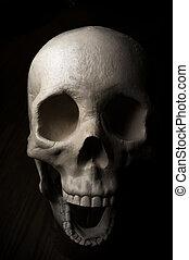 Scary Halloween Skull - Terrifying surprised halloween skull...