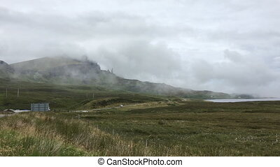 View of the Old Man of Storr, Skye in Scotland - A View of...