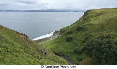 Clifftop view from the Isle of Skye, Scotland - A Clifftop...
