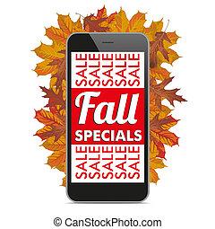 Black Smartphone Autumn Fall Specials