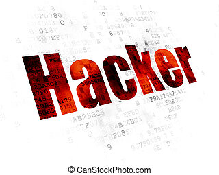 Privacy concept: Hacker on Digital background