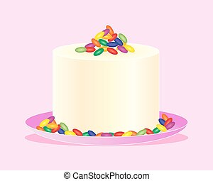 jelly bean cake