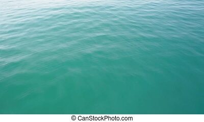 Transparent quiet sea water - Transparent surface of the sea...