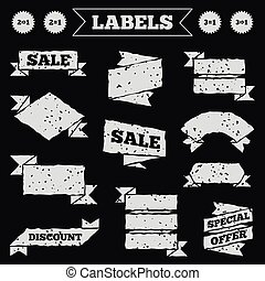 Special offer icons Take two pay for one sign - Stickers,...