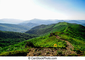 Bieszczady mountains in southeastern Poland