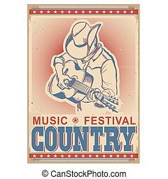 American music festival background with musician playing...