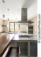 Clear kitchen space for modern perfectionists - Spacious and...