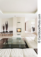 Marvelous use of stone in contemporary interior decor -...