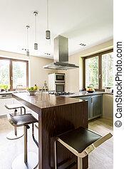 Designer accessories in a modern kitchen - Bar in a modern...