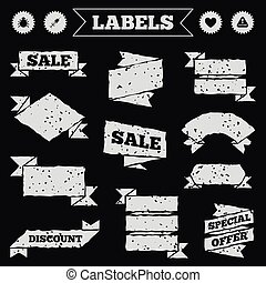 Bug and vaccine signs. Heart, spray can icons - Stickers,...