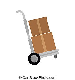Hand cart Stock Illustrations. 7,983 Hand cart clip art images and ...