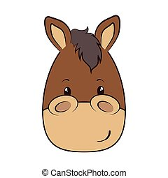 horse face animal cartoon - horse face animal adorable...