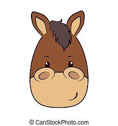 horse face animal cartoon - horse face animal adorable...