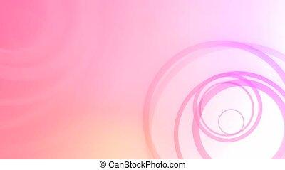Random Rings Pink HD Loop - High definition animated loop of...