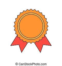 ribbon award gold medal