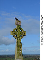 Celtic Cross with a Bird on the Top