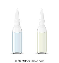 Two sealed medical ampoules with drug solution, 3d...