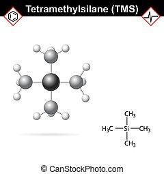 Tetramethylsilane - TMS molecule - Tetramethylsilane - TMS...