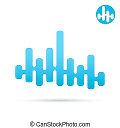 Equalizer bar, eq 2d concept icon - Equalizer bar with...