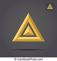 Delta letter sign, 2d triangle logo, vector illustration,...