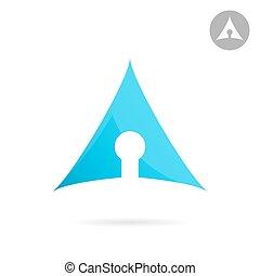 Keyhole icon illustration - Keyhole icon on white...
