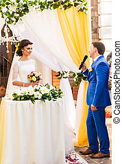 wedding vows at the ceremony