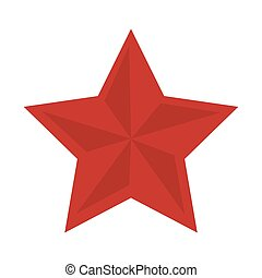 red star shape decoration element insignia vector...