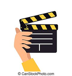 clapboard movie action object