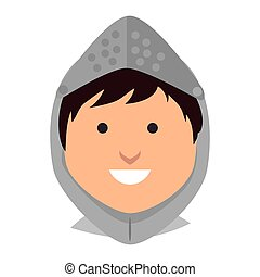 man medieval warrior cartoon - knight man smiling cartoon...
