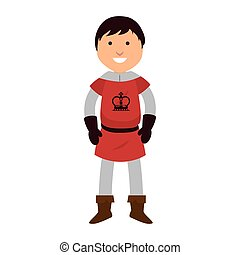 man medieval warrior cartoon - knight man smiling cartoon...