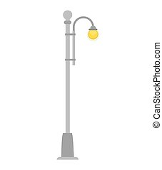 street light lamp urban city element post vector...