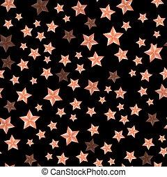 Set of Red Stars. Seamless Starry Pattern.