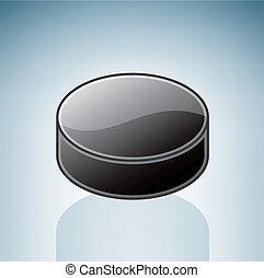 Hockey Puck part of the 3D Isometric Objects Icons Set