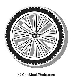 bicycle wheel silhouette - bicycle wheel tire spoked frame...