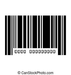 barcode with serial number data information scanner vector...