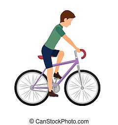 cyclist man riding a bicycle