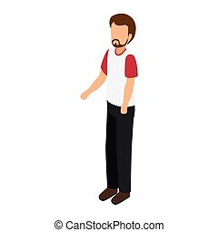 avatar man standing male wearing casual clothes cartoon...