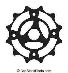 gear bike wheel cog bicycle mechanical equipment vector...