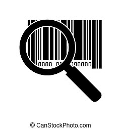 barcode with serial number lupe - lupe magnifying glass...