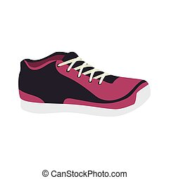 sport running shoes exercise training activity silhouette...