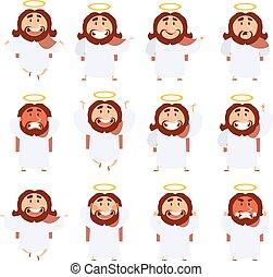Set of Jesus icons