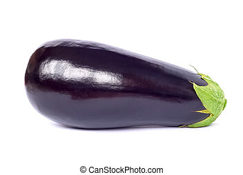 Eggplant studio shot isolated on white background.
