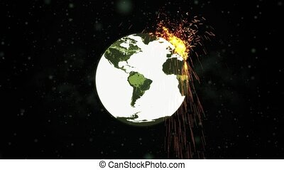 World Exploding Bomb HD - High definition animated loop of a...