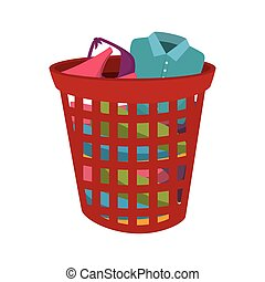 Clip Art Vector of Laundry Pile Clothes - Illustration ...