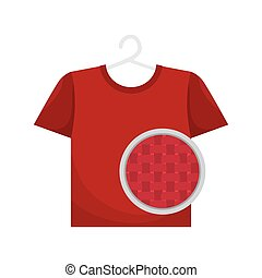 red t shirt laundry
